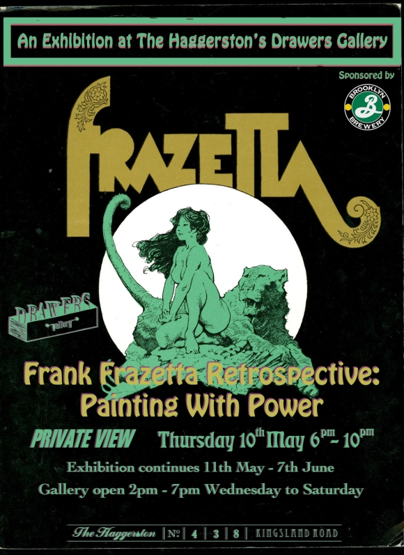 Frank Franzetta Exhibition Tonight